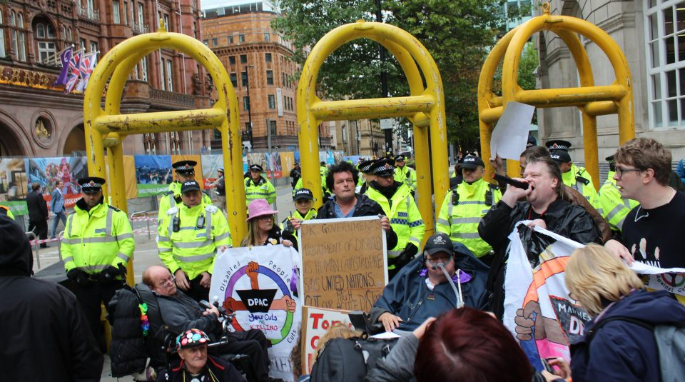 Disabled People Against the Cuts protest, Manchester, 2017