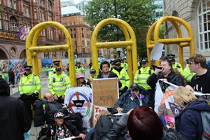 Disabled People Against Cuts (DPAC) protest, Manchester, 2017 © People's History Museum
