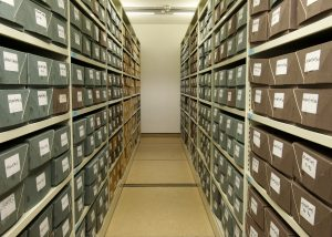 Archive stores at the Labour History Archive & Study Centre @ People's History Museum