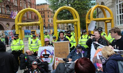 9 August 2018, Radical Manchester! Meet the Activists @ People's History Museum. Disabled People Against the Cuts protest, Manchester 2017