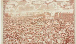 Peterloo Network Meeting @ People's History Museum. Peterloo commemorative handkerchief, 1819