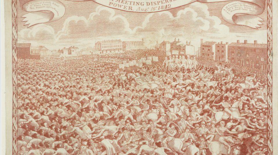 14 February 2018, Peterloo Network Meeting @ People's History Museum. Peterloo handkerchief, 1819