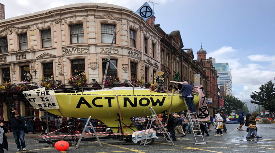 7 September 2019, Have Your Say: The Northern Rebellion @ People's History Museum. Extinction Rebellion on Deansgate, Manchester, September 2019 © Andy Hay