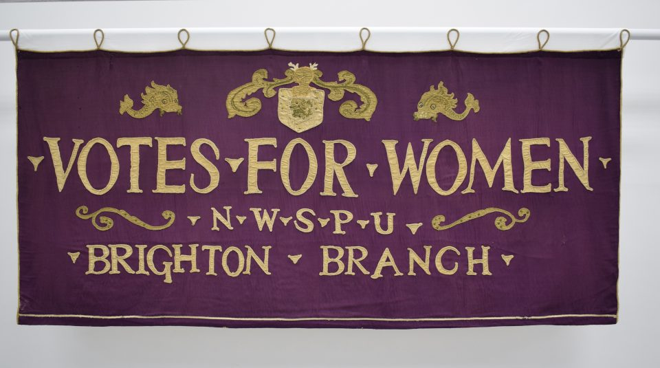 Brighton National Women's Social and Political Union banner, 1913 @ People's History Museum