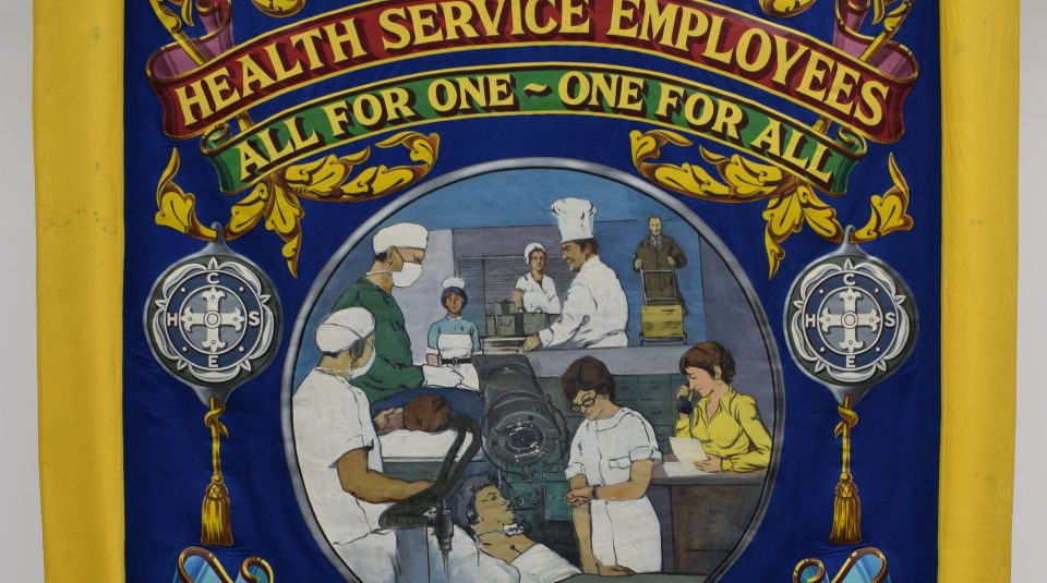 Confederation of Health Service Employees banner, 1978 @ People's History Museum