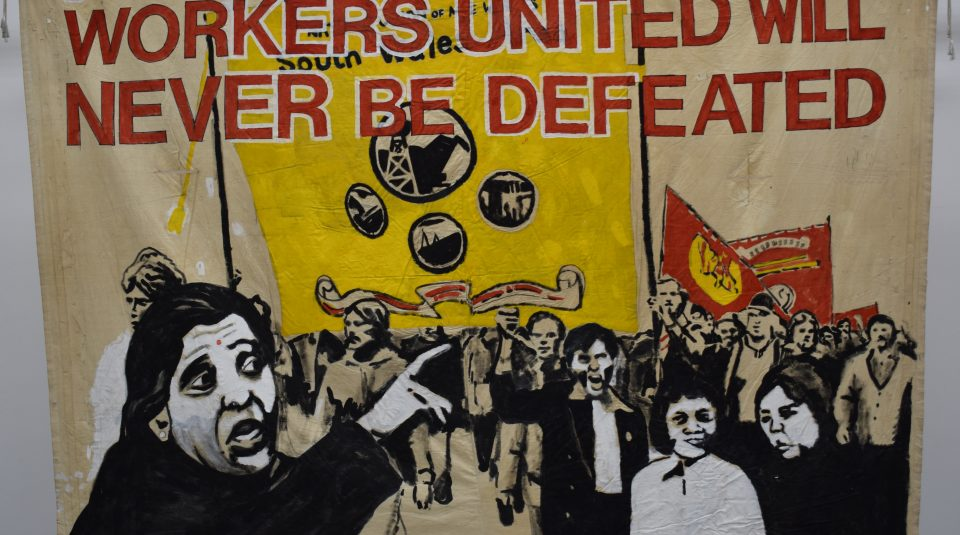Grunwick Strike Committee banner, around 1976 @ People's History Museum