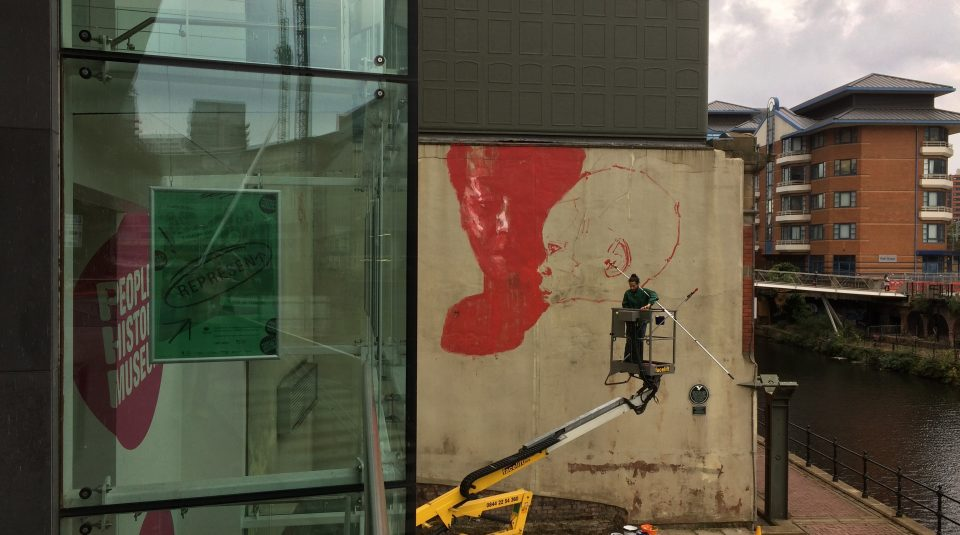 Axel Void's tribute to Peterloo mural, 1 October 2018 @ People's History Museum