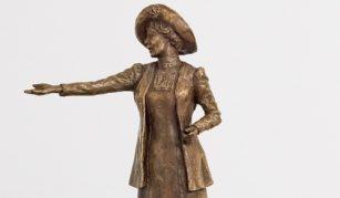Emmeline Pankhurst statue maquette, by sculptor Hazel Reeves