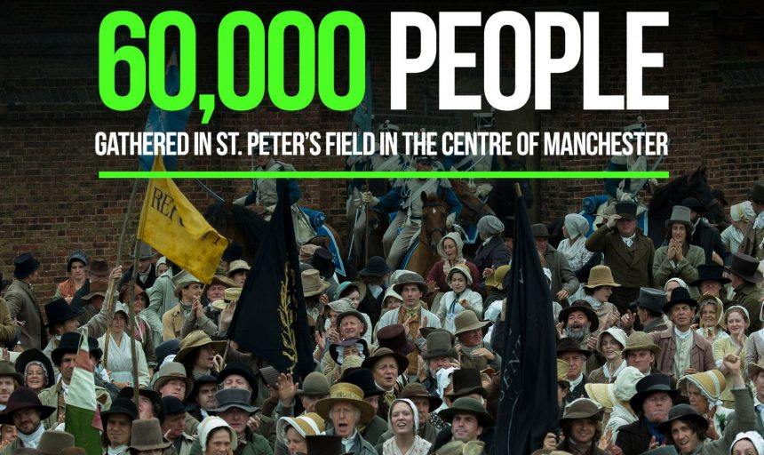 Still from Peterloo film, directed by Mike Leigh