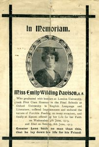 Emily Wilding Davison's funeral service programme, 1913 @ People's History Museum