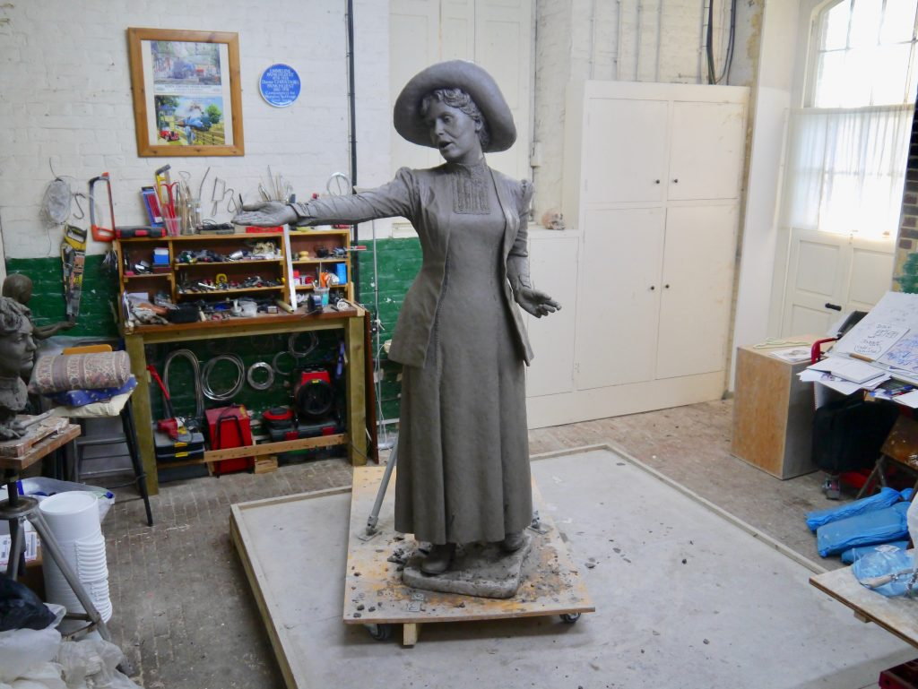 Final clay of Our Emmeline by Hazel Reeves © Hazel Reeves