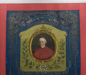 Amalgamated Society of Watermen & Lightermen, Greenwich Branch No.13 Cardinal Manning Lodge banner, 1890s @ People's History Museum