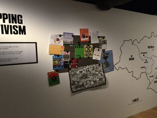 Mapping Activism interactive, Protest Lab in Disrupt? Peterloo and Protest exhibition @ People's History Museum