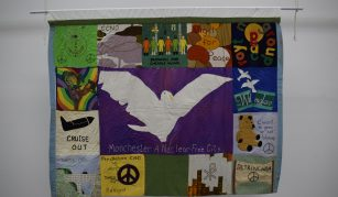 Greater Manchester Campaign for Nuclear Disarmament (CND) banner, 1980s @ People's History Museum