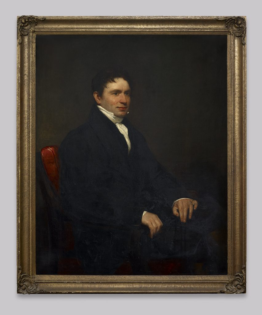 Portrait of Hugh Hornby Birley, captain of the Manchester and Salford Yeomanry, oil paint on canvas, date unknown © People's History Museum