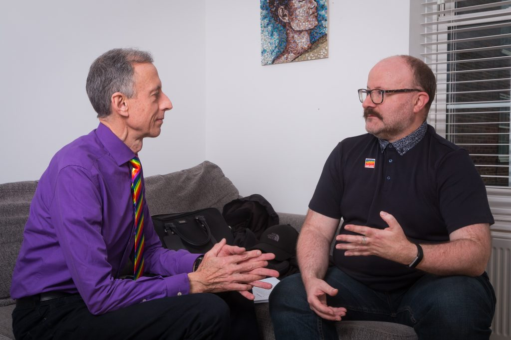 Left to right Peter Tatchell & Stephen M Hornby ©Nicolas Chinardet