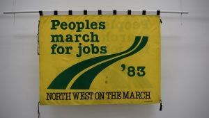 Peoples March for Jobs banner, 1983 @ People's History Museum