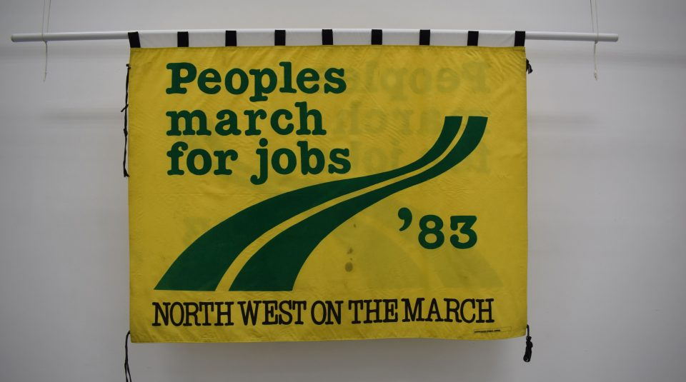 People's March for Jobs banner, 1983 @ People's History Museum