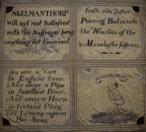 Skelmanthorpe flag, around 1819. On loan from Tolson Museum © People's History Museum