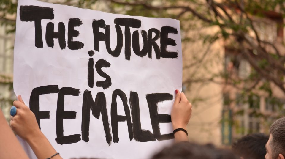27 April 2019, Remembering Resistance @ People's History Museum. The Future is Female placard, photo © Remembering Resistance