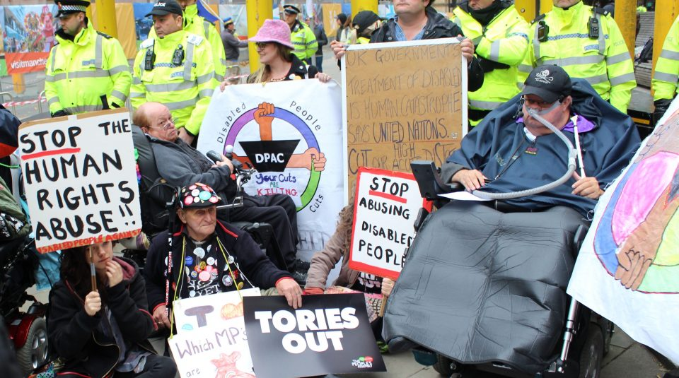 5 April - 5 May 2019, Nothing About Us Without Us exhibition @ People's History Museum. Disabled People Against Cuts protest, Manchester, 2017