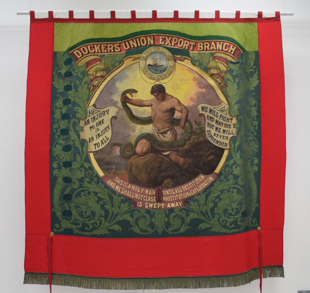 Dockers Union Export Branch banner, 1890s @ People's History Museum