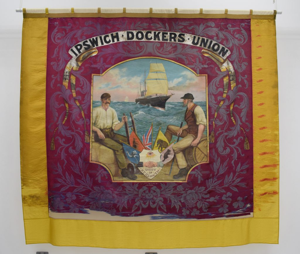 Ipswich Dockers Union banner, 1890s @ People's History Museum