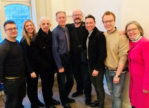 Left to right Mike Heath, Emily Heyworth, Darren Scott, Peter Tatchell, Stepehn M Hornby, Nathan Morris, Matt Hassall (Director) & Judy Holt