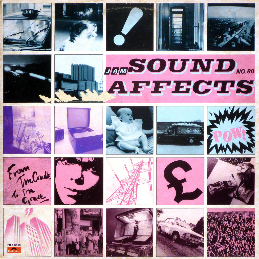 The Jam, Sound Affects album 1980. Front cover of record sleeve