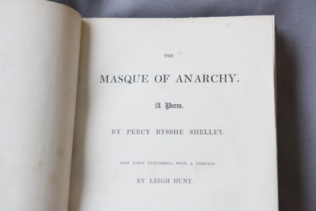 The Masque of Anarchy poem by Percy Bysshe Shelley © Working Class Movement Library