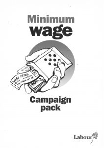 Minimum Wage Campaign pack pamphlet, mid-1996 @ People's History Museum