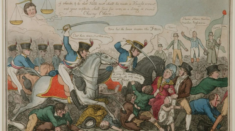 Manchester Heroes print by George Cruikshank, September 1819 © People's History Museum