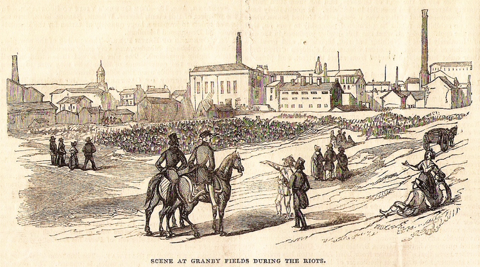 20 July - 22 September 2019, The Most Radical Street in Manchester @ People's History Museum. Illustrated London News, 27 August 1842, scene at Granby Row Fields