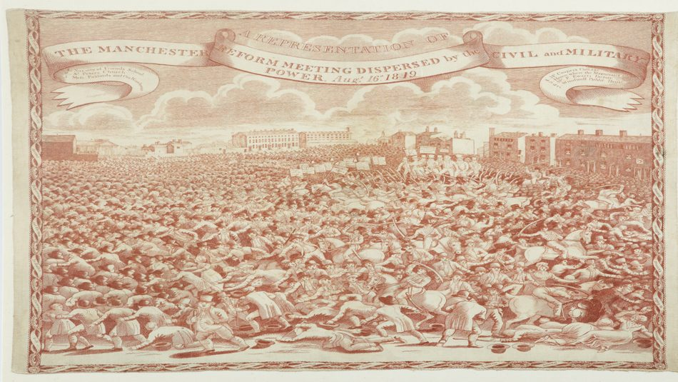 8 August 2019, Have Your Say @ People's History Museum. Peterloo commemorative handkerchief, around 1819 © People's History Museum