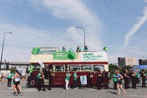 Charity Cheer Bus © Simplyhealth Great Manchester Run