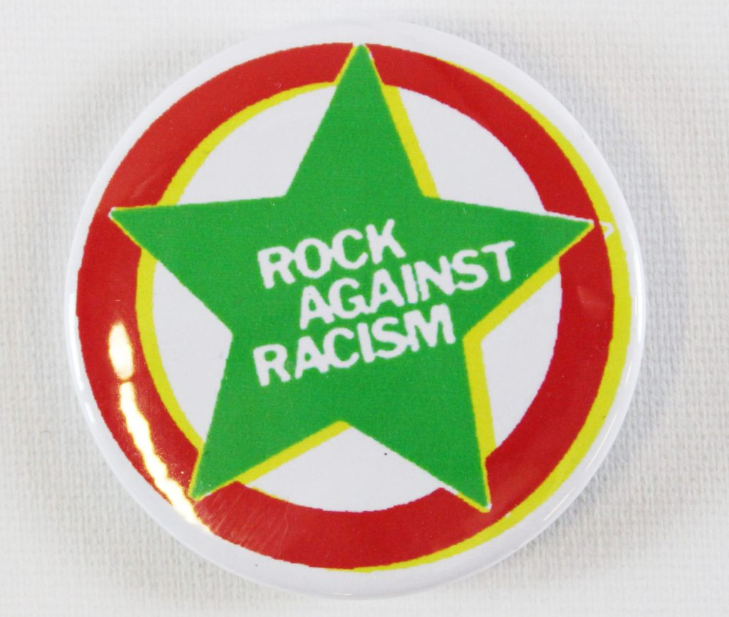 Rock Against Racism badge, around 1976 © People's History Museum