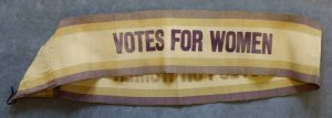 Votes for Women sash © Working Class Movement Library