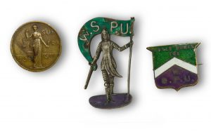 Women's suffrage badges © Working Class Movement Library