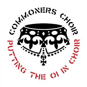 Commoners Choir, Putting the oi in choir logo © Commoners Choir