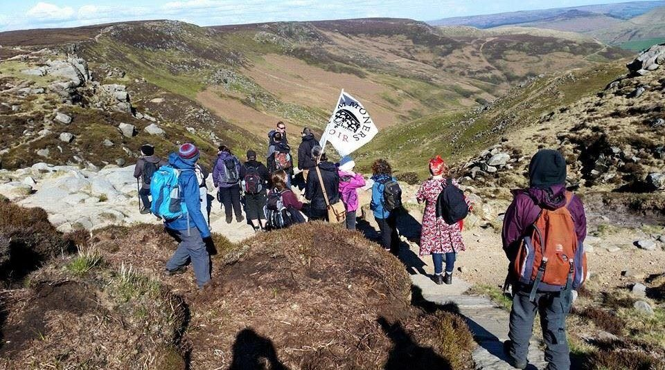 Commoners Choir walking on Kinder Scout © Commoners Choir