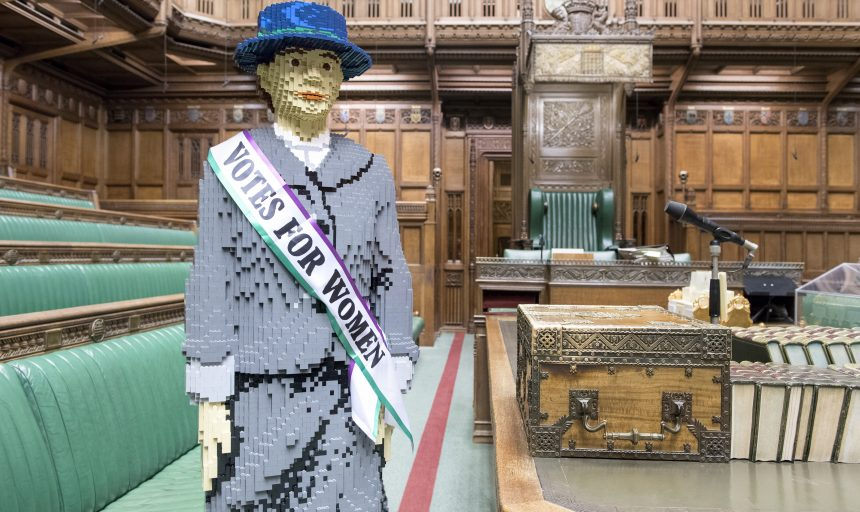 Hope, LEGO suffragette on loan from House of Commons © Jessica Taylor