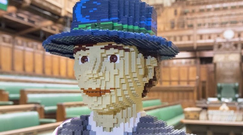 15 July - 4 September 2019, #HelloHope Life sized LEGO suffragette @ People's History Museum on loan from House of Commons © Jessica Taylor - crop