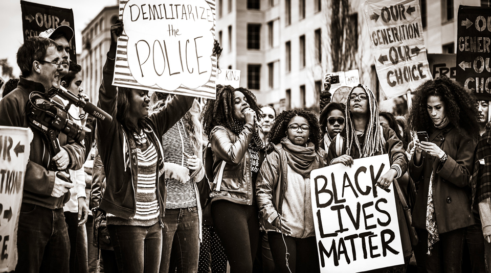 23 November 2019, Writing and Remembering Protest @ People's History Museum. Demilitarize the Police, Black Lives Matter protest, November 2015 © Johnny Silvercloud