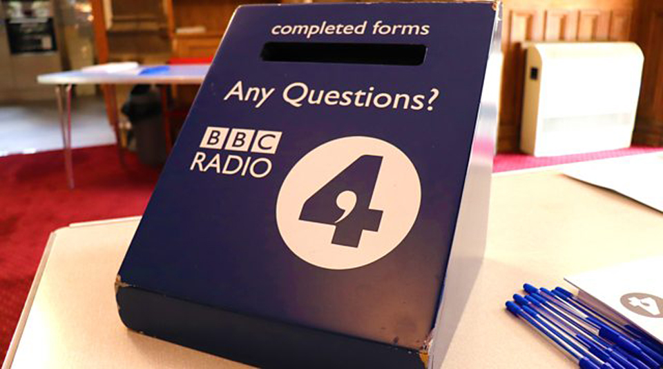 27 September 2019, Live BBC Radio 4 Broadcast: Any Questions? @ People's History Museum