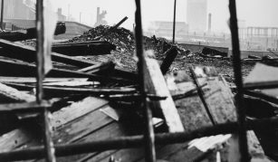 5 October 2019 - 12 January 2020, Overspill: the history of the Manchester slum clearance to Darnhill and Langley @ People's History Museum. Collyhurst slum clearance, 1963 © Manchester Libraries, Information & Archives
