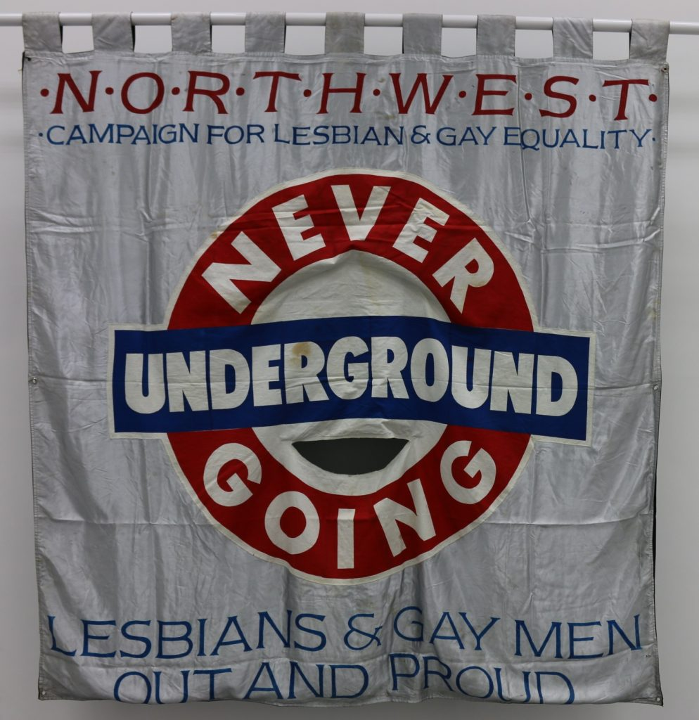 Never Going Underground banner, 1988, © People's History Museum