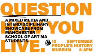 12 September 2019, This interference will make you question how you live – a pop up showcase by Manchester School of Art MA students @ People's History Museum