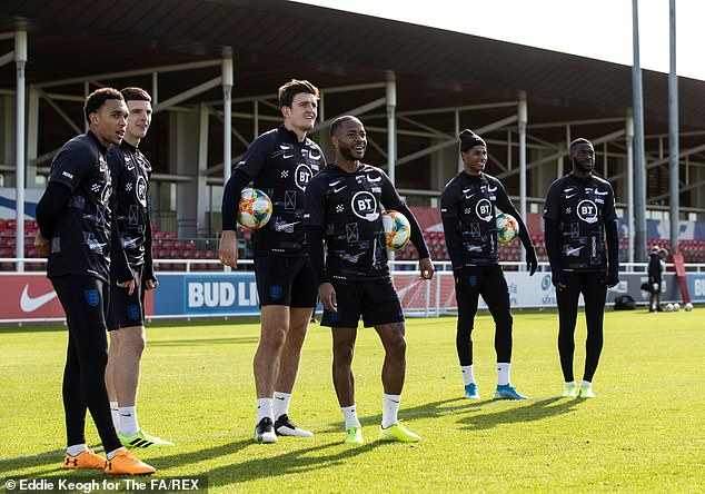 England's football players wearing Black History Month shirts in training sessions ©Eddie Keogh for The FA/REX