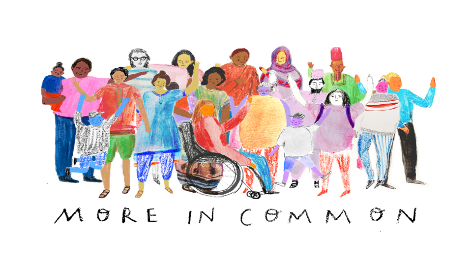 More in Common project, design by illustrator Danielle Rhoda @ People's History Museum