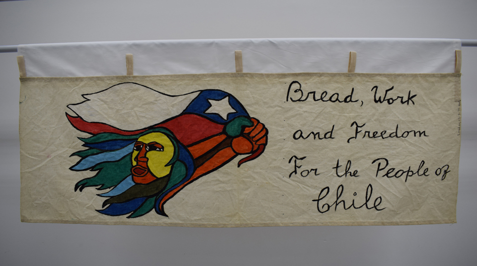 Bread, Work and Freedom for the People of Chile banner, around 1980 © People's History Museum